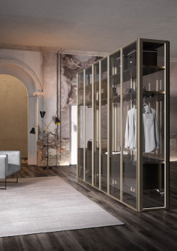 ALBED_CABARM_FREESTND_SOLO_product_walk-in_closet_champagne_profile_trasparent_glass