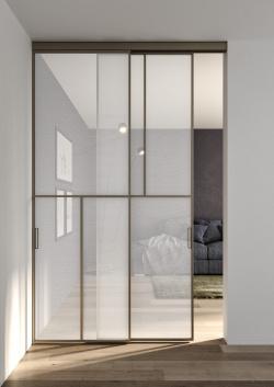 ALBED_SCORR_BINEST_CELINE_product_door_white_fabric_glass_bronze_profile